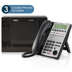 NEC NEC-1100001 SL1100 System Kit w/ (3) 12 Key Phones